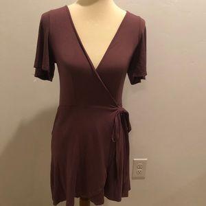 Charlotte Russe Mauve wrap dress size S